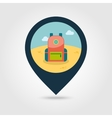 Backpack pin map icon Travel Summer Vacation vector image