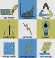 Eco energy icon set vector image