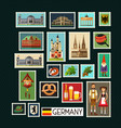 german stamps vector image