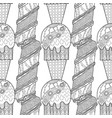 ice cream dessert black and white vector image
