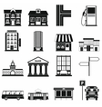 Infrastructure set icons vector image