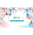spring sale design collection of six hand drawn vector image