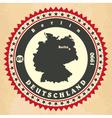 Vintage label-sticker cards of Germany vector image