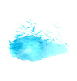 watercolor blue vector image