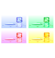 Colour cubes of ice vector image