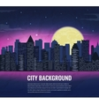 City landscape at night in moonlight vector image
