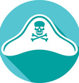 Pirate Hat Icon vector image vector image