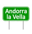 Andorra la Vella road sign vector image