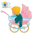 clip art of little baby crawls vector image