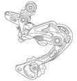 Bicycle rear derailleur vector image