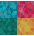 Seamless Polygonal Pattern Set Background vector image vector image