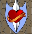 abstract heart and knife vector image