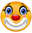 Clown emoticon vector image