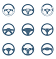 steering wheels vector image
