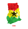 Map of Republic Of Ghana vector image