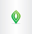 spiral green leaf logo abstract business icon vector image