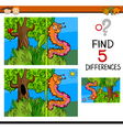 preschool differences game vector image