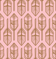 FEATHERS PATTERN GEOMETRIC STYLE vector image vector image