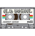 Vintage old school cassette with name on it vector image