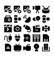 Multimedia Icons 6 vector image