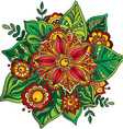 Beautiful hand drawn flower with many details vector image