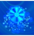 Compact Disc Isolated on Blue Blurred Background vector image
