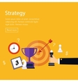 Data analysis strategy planning and successful vector image