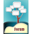 Forum tree or concept information marine backgroun vector image