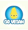 Go vegan pear vector image