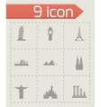 landmarks icon set vector image