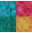 Seamless Polygonal Pattern Set Background vector image