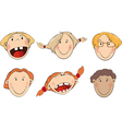 Set of childrens faces vector image