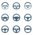 Steering wheels vector image