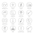 Thin Line Icons Agricultural Tool vector image