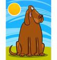 big brown dog cartoon vector image vector image