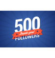 500 followers vector image