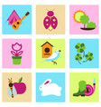 set collection icons of color springs vector image