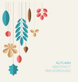 autumn abstract floral background with place for vector image vector image