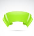 Bright green ribbon badge sign banner vector image