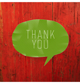 thank you on red board vector image vector image