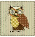Retro owl vector image