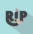Rest In Peace Typography Design vector image