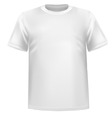 white tshirt vector image vector image