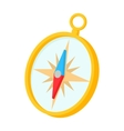 Gold compass icon in cartoon style vector image