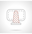 Cone warning sign flat line icon vector image
