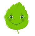 Cartoon leaf vector image
