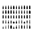 bottle collection silhouette vector image