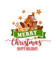 christmas cookie candy cane icon for xmas design vector image