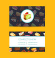 confectionary cooking or pastry shop vector image