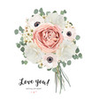 flower bouquet floral bunch card design vector image